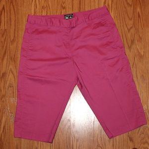 Adidas fuchsia athletic shorts